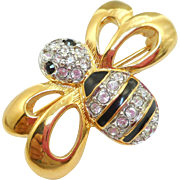 Swarovski Bee Pin