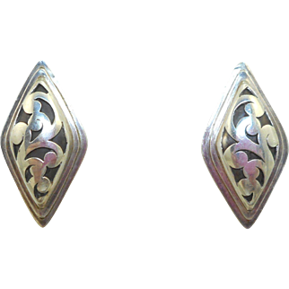 Lois Hill Sterling Open Scrollwork Earrings