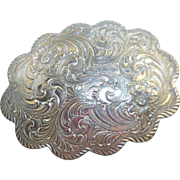 Vintage Southwestern Silver-plated Buckle