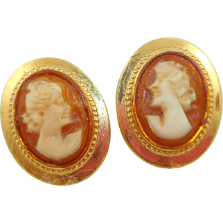 Danecraft Cameo Earrings