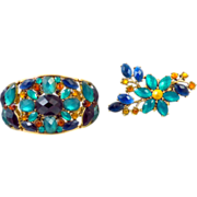 Jeweled Bracelet & Brooch