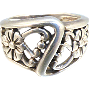 Sterling Flowers Ring