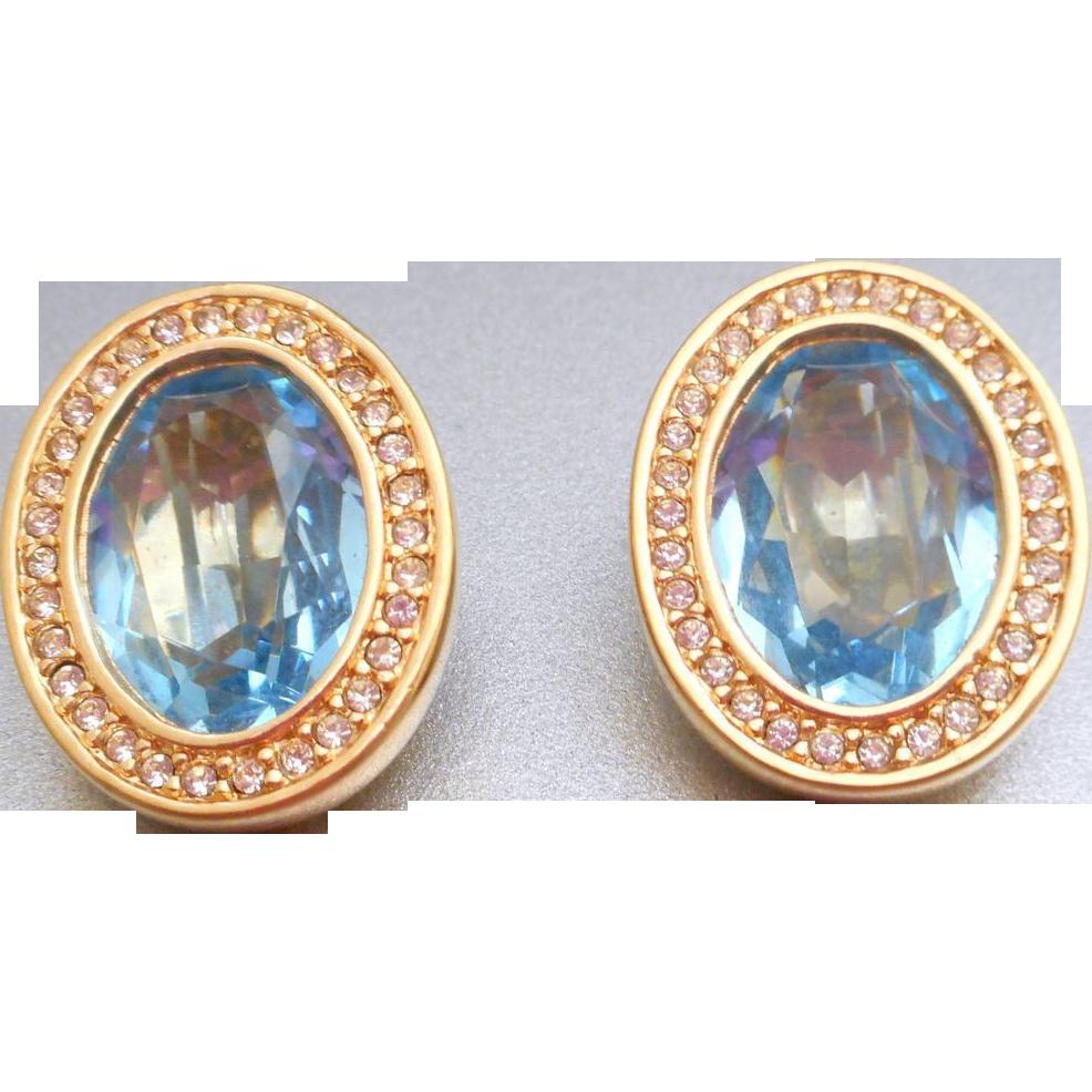 Swarovski Blue Earrings