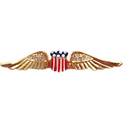 Coro Patriotic Wings Brooch
