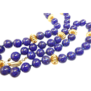 Lapis Blue Bead Necklace