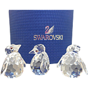 3 Swarovski Penguin Figurines