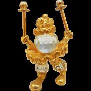 Swarovski Trimlite Clown Juggler Figurine