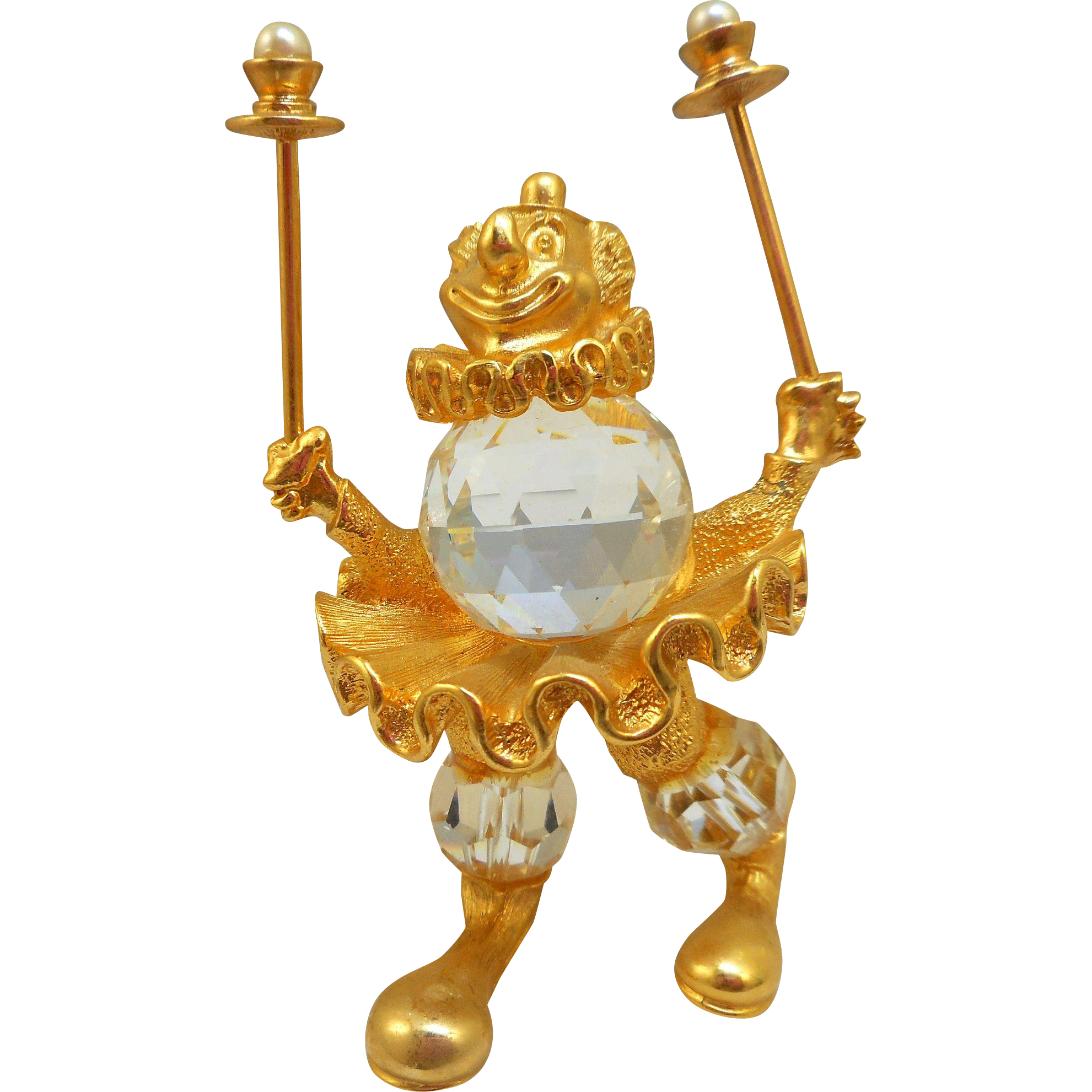 Swarovski Trimlite Clown Juggler Figurine