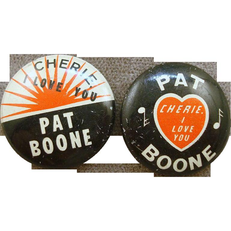 1958 Pat Boone Pinbacks
