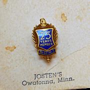 Brotherhood of Railroad Trainmen 25 Year Pin - MO