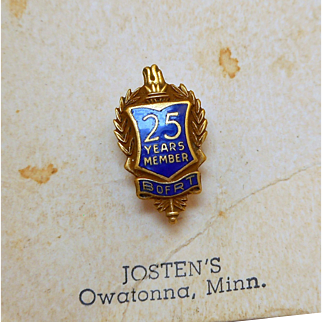Brotherhood of Railroad Trainmen 25 Year Pin - MO