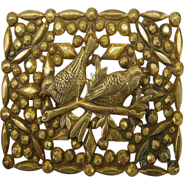 Antique Victorian England Brooch with Birds