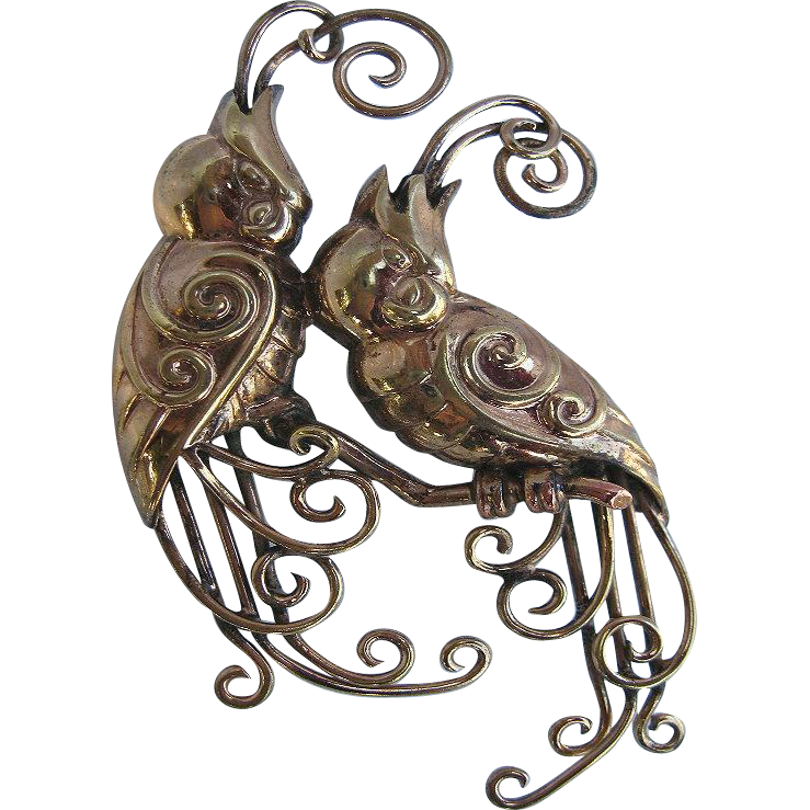 Vintage Marcel Boucher Parisina Cockatoo Brooch