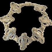 Vintage Sterling Silver Parrot Link Bracelet
