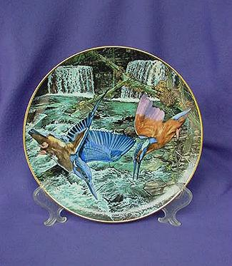 Vintage Exotic Birds of Tropique Kingfisher Plate