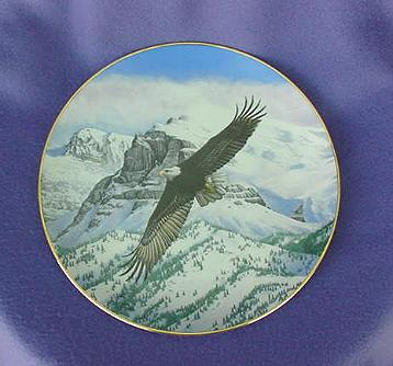 Vintage The Eagle Soars Plate Hamilton Collection