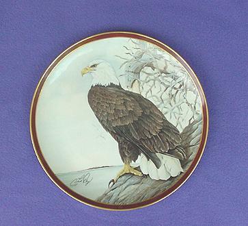 Vintage Bald Eagle China Plate