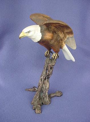 Vintage Royal Worcester Bone China and Bronze Bald Eagle