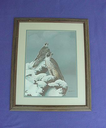 Vintage Bill Jaxson Thunder and Fury Hawk Print