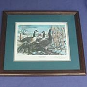 Vintage Signed Canada Goose Print