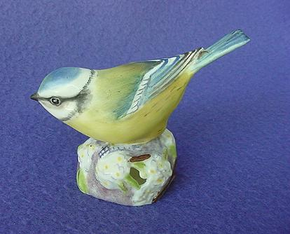 Vintage Royal Worcester Blue Tit Figurine