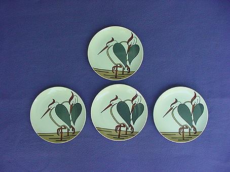 Vintage Fitz and Floyd Heron Plate Set