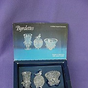 Vintage Hofbauer Bird Crystal Byrdettes Set Original Box