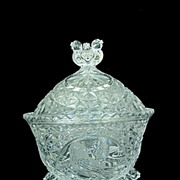 Hofbauer Byrdes Crystal Covered Candy Dish