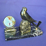 Art Deco Perpetual Desk Calendar Pen Holder