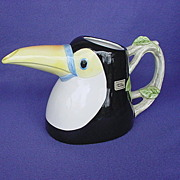 1980's Fitz and Floyd Toucan Pitcher