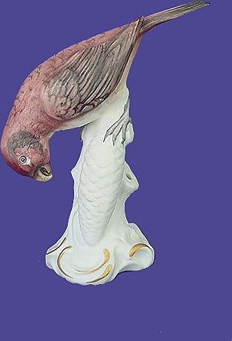 Vintage Crossbill Porcelain Hatpin Holder from Germany