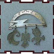 Vintage Sterling Silver Southwest Bird Pin