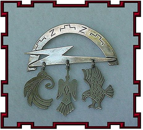 Vintage Sterling Silver Southwest Bird Pin