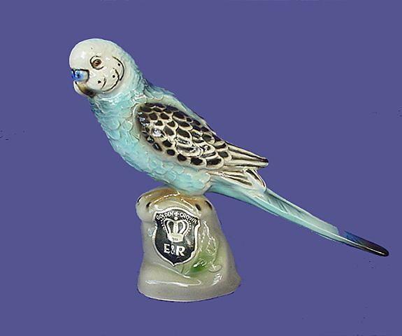Vintage Wein Blue Budgie Figurine