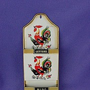 Vintage Tilso Chicken Rooster Letter Holder