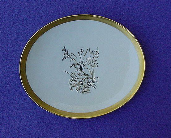 Vintage Hutschenreuther Heron Berry Plates
