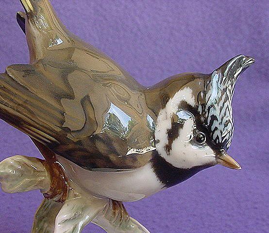 Vintage Rosenthal Crested Tit Figurine