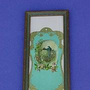 Framed Victorian Advertising Barn Swallows