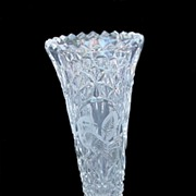 Hofbauer Byrdes Crystal Bud Vase w/ Original Sticker