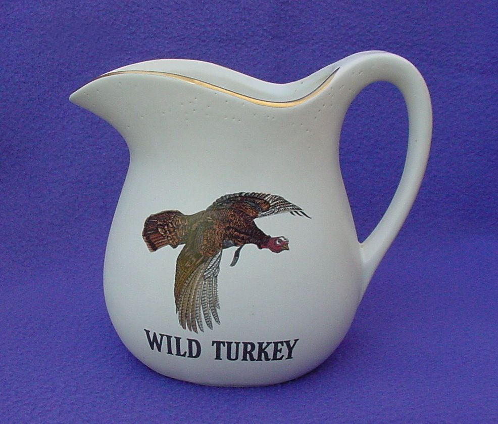1978 McCoy Wild Turkey Pottery Pitcher