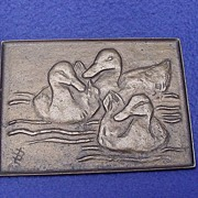 Art Deco Bronze Duck Paperweight