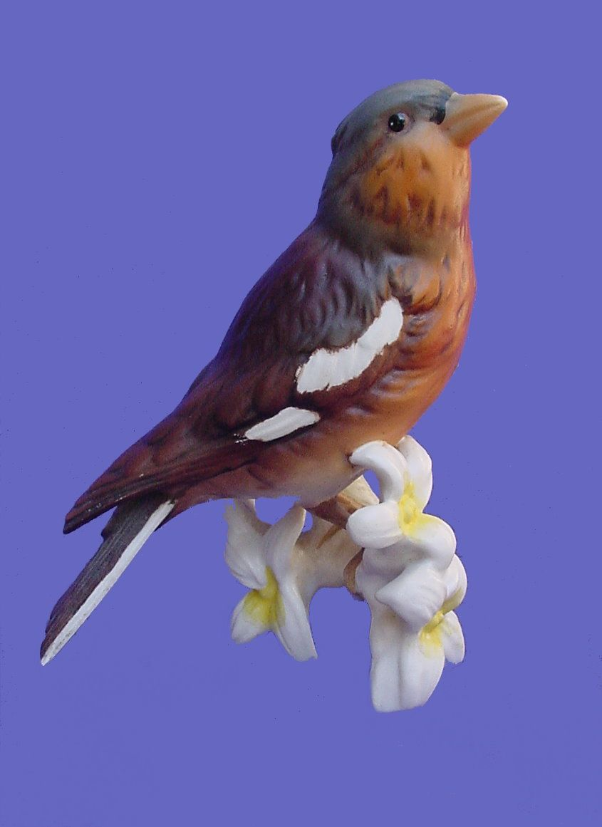 Vintage Goebel Chaffinch Flowers Figurine