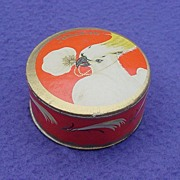 Vintage European Face Powder with Cockatoo Unopened