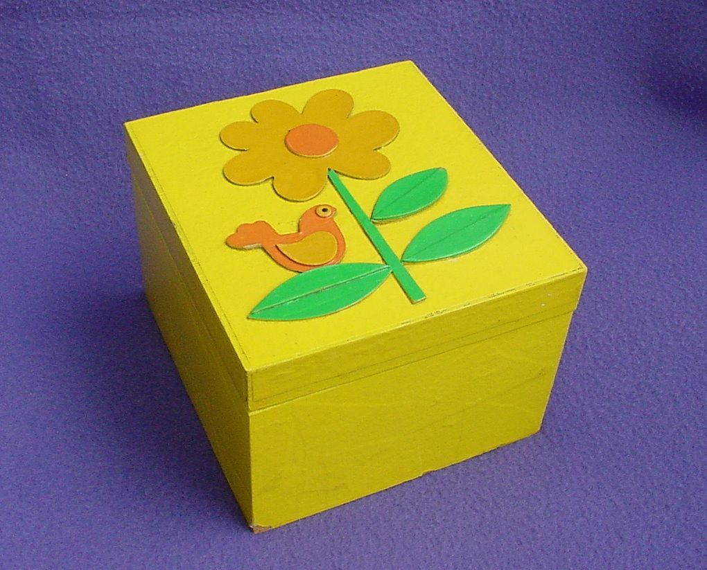 Vintage Mod Fitz and Floyd Recipe Box Bird Flower