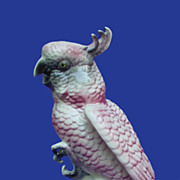 Vintage Ball Brothers Pink Cockatoo Figurine
