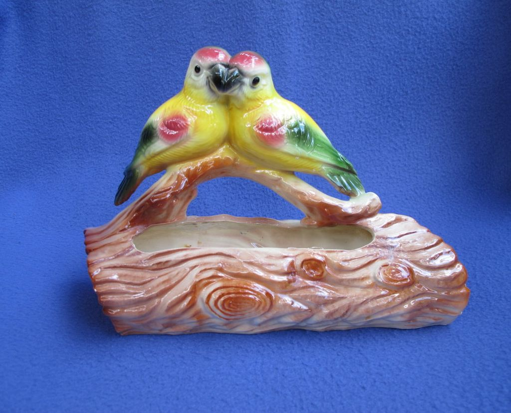 Vintage Maddux of California Pottery Parrot Planter
