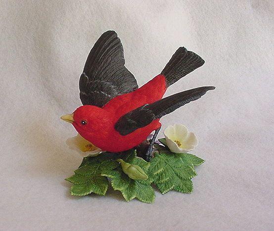 Lenox Porcelain Scarlet Tanager Figurine