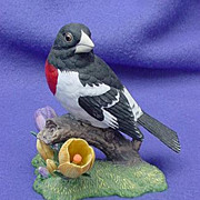 Vintage Lenox Rose Breasted Grosbeak Figurine