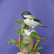 Vintage RSPB Black-capped Chickadee Figurine