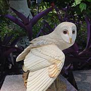 Vintage Franklin Mint McMonigle Barn Owl Figurine
